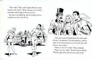 SCHAFFENBERGER, KURT - Captain Marvel - Shazam book 1970s  pages 18 & 19 Comic Art
