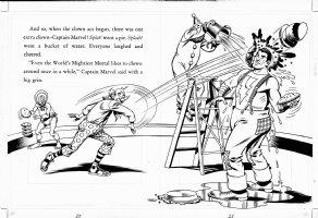 SCHAFFENBERGER, KURT - Captain Marvel - Shazam book 1970s  pages 20 & 21 Comic Art