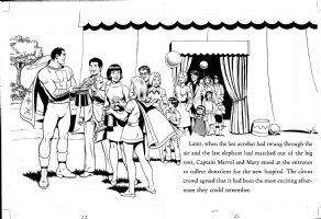 SCHAFFENBERGER, KURT - Captain Marvel - Shazam book 1970s  pages 22 & 23 Comic Art