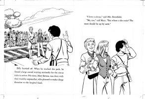 SCHAFFENBERGER, KURT - Captain Marvel - Shazam book 1970s  pages 4 & 5 Comic Art