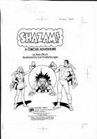 SCHAFFENBERGER, KURT - Captain Marvel - Shazam book 1970s  inside Cover Comic Art