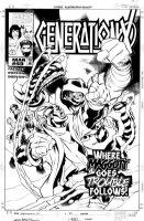 DODSON, TERRY - Generation X #49 cover - Chamber, Synch, Skin; X-Men's Maggott vs Slaughter Comic Art