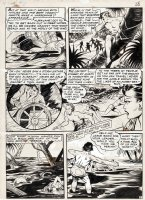BAKER, MATT - Seven Seas Comics #3 lrg pg, South Seas Girl / Vooda 1947 Comic Art