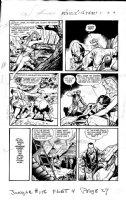 BAKER, MATT / JACK KAMEN - Jungle Comics #156 pg 3, Tiger Girl saves, Fight Comics 1947, evil plot Comic Art