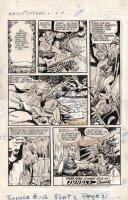 BAKER, MATT / JACK KAMEN - Jungle Comics #156 last pg, Tiger Girl, Fight Comics 1947, stops Devil-dam Comic Art