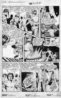 BAKER, MATT / JACK KAMEN - Fight Comics #50 large Good Girl pg 6, Tiger Girl vs croc & nearly toplesss Evil Queen Comic Art