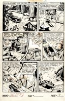 BAKER, MATT P/I - Black Condor (Fox Comics, Iger Studio) 1947 page with A/E Tom Wright & gal Wendy (Phantom Lady series done instead), published as SF story in Journey Into Fear #1 pg 8, 1951 Comic Art
