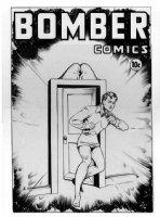 BAKER, MATT - Bomber Comics final cover for issue #5 - stars Wonder Boy (Spring 1945) Gilberton/Classics Comic Art