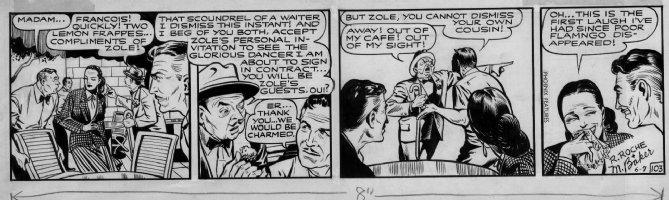BAKER, MATT - Flamingo #103 daily, stylish woman laughs in cafe Comic Art