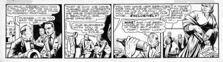 BAKER, MATT - Flamingo #105 daily, crooks, gypsy woman Comic Art