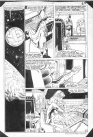 WOCH, STAN - Worlds Finest #313 pg 22 Batman Jason & 1st Harbinger / Moniter CRISIS Comic Art