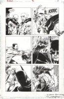 GRINDBERG, TOM / JACKSON GUICE - Resurrection Man #7 pg 4, Batman beats punks 1997 Comic Art