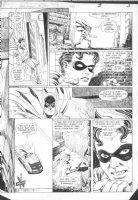 HOBERG, RICK / ALCALA - Batman #385 pg 3  Batman Batmoble, Robin Comic Art