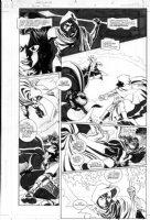 HOBERG, RICK / GAUDIANO - Batman Family #4 pg 6, Huntress Comic Art