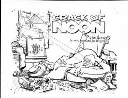 BORGMAN, JIM - Zits  Crack of Noon  book cover with logo Comic Art