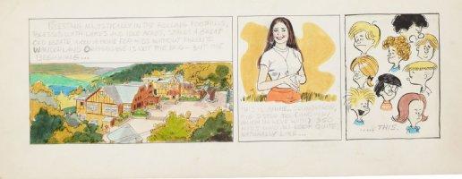 DRAKE, STAN & BILL YATES - Annie's Li'l Orphans daily, Intro, & hand colored  Comic Art