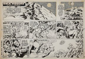 SPARLING, JACK - Buck Rogers Sunday 7/24 1983 Comic Art