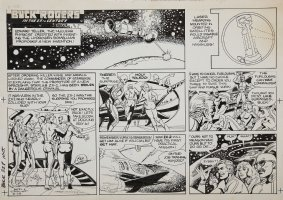 SPARLING, JACK - Buck Rogers Sunday 8/28 1983 Comic Art