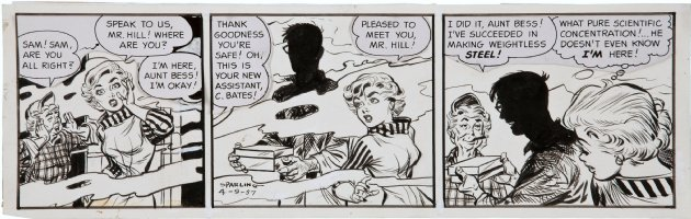 SPARLING, JACK - Sam Hill daily 4/9 1957 Comic Art