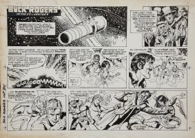 SPARLING, JACK - Buck Rogers Sunday 8/14 1983 Comic Art