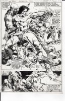 COLON, ERNIE - Warlord #48 pg 11, Incredible splash page! First appearance of Arak Son of Thunder Comic Art