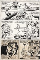 COLON, ERNIE - Warlord #48 pg 12, First appearance of Arak Son of Thunder. Production stains at bottom of page Comic Art