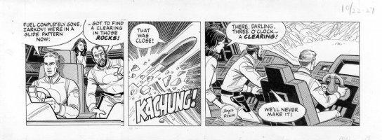 REESE, RALPH - Flash Gordon daily 10/22 1982 Comic Art