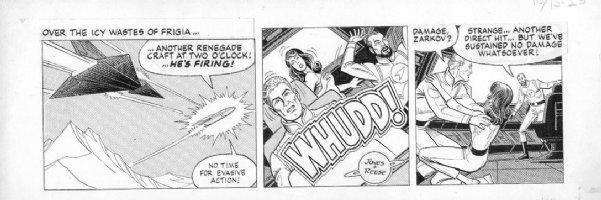 REESE, RALPH - Flash Gordon daily 10/13 1982 Comic Art