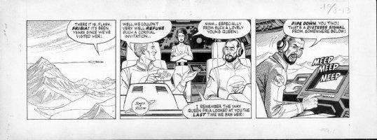 REESE, RALPH - Flash Gordon daily 10/8 1982 Comic Art