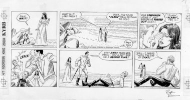 REESE, RALPH - Flash Gordon Sunday 1981 Comic Art