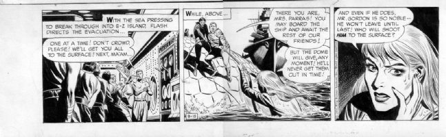 BARRY, DAN with Harvey Kurtzman - Flash Gordon Daily, 9/15 1956 Comic Art