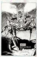 CASE, RICHARD & GRANT MORRISON - Doom Patrol #39 pg 24 splash, Robot Man in spider suit Comic Art
