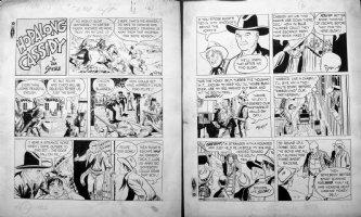 SPIEGLE, DAN - HOPALONG CASSIDY Sunday 6/3 1951, on hunt for Sloat Comic Art