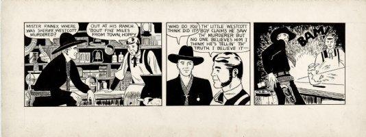SPIEGLE, DAN - Hopalong Cassidy daily, Hoppy in shooting, 1950s Comic Art