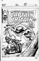 MARCOS, PABLO - Captain Britain #38 cover Comic Art