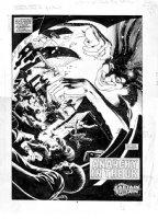 DAVIS, ALAN - Alan Moore's Captain Britain splash Comic Art