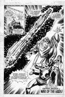 WILSON, RON / TOM PALMER - Captain Britain Marvel UK #35 last pg splash, Cap, Merlin Roma Comic Art