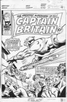 MARCOS, PABLO - Captain Britain #39 cover, Queen II, 1970s Comic Art