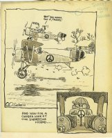 SEVERIN, JOHN - Humor Comic Strip daily, satire on Herb Trimpe's WWI dogfight comic Comic Art
