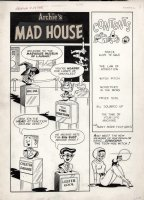 DECARLO, DAN - Archie's Mad House #24 lrg cover B - 2nd Sabrina Teenage Witch & Salem app. & 1st cover 1962 Comic Art