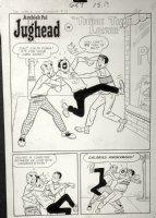 DeCARLO, DAN - Archie's Pal Jughead #19 large pg 1, splash, Archie & Reg tackle Jug  Comic Art