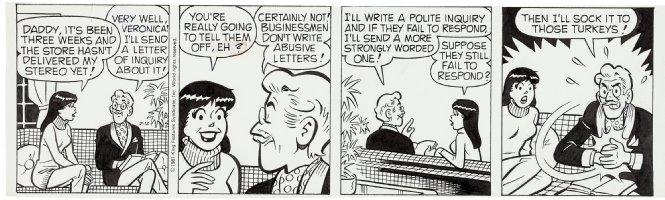DeCARLO, DAN - Archie daily 2/12 1981,  Veronica & Mr Lodge Comic Art
