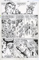 SINNOTT, JOE finishes / BOB HALL - Avengers #252 pg 21, Cap, Scarlet Witch, Eros, naked Hercules & Dane Whitman Comic Art