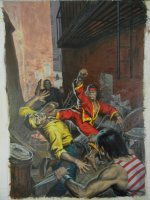 NOREM, EARL - Deadly Hands of Kung Fu #33 painted cover art Comic Art