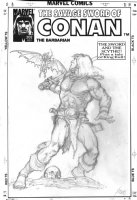 NOREM, EARL - Savage Sword of Conan #202 cover pencils to the painted cover. Large size art 13 Comic Art