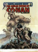 NOREM, EARL- Savage Sword of Conan #70 painted cover, with logo on overlay Comic Art