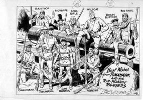 BROWN, BOB - Tomahawk 1960's pin-up Comic Art