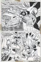 BROWN, BOB - Avengers #117 pg 11, half splash, Valkyrie Swordman - Avengers vs Defenders War Comic Art