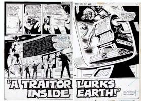 BROWN, BOB - Brave and the Bold #103 Batman double, title splash pgs 2 & 3 Comic Art
