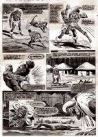BROWN, BOB - Haunt of Horror / Marvel Preview Magazine #12 pg 34 -  Death of the Living Dead , zombies Comic Art